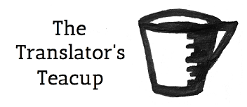 "Translation blog ""The Translator's Teacup"", hosted by lingocode, a.k.a. Rose Newell Mobile Logo"