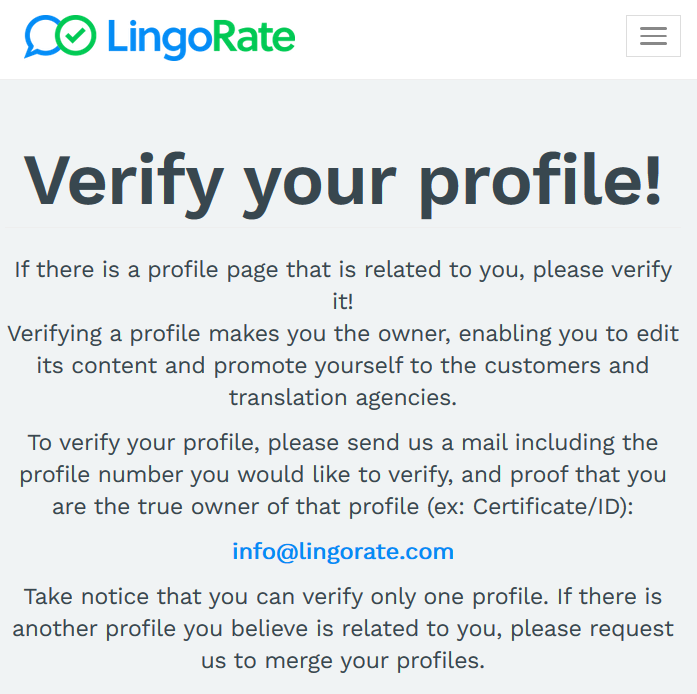 Look at the information Lingorate requests. Your certificate and/or ID? There's a lot someone can do with that.